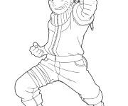 Coloriage Naruto Uzumaki pour enfant