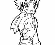 Coloriage Naruto Uzumaki prêt au combat