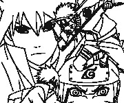 Coloriage personnage Naruto Uzumaki