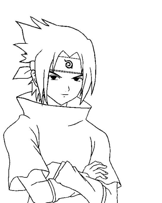 Coloriage et dessins gratuits Sasuke dessin desiney à imprimer