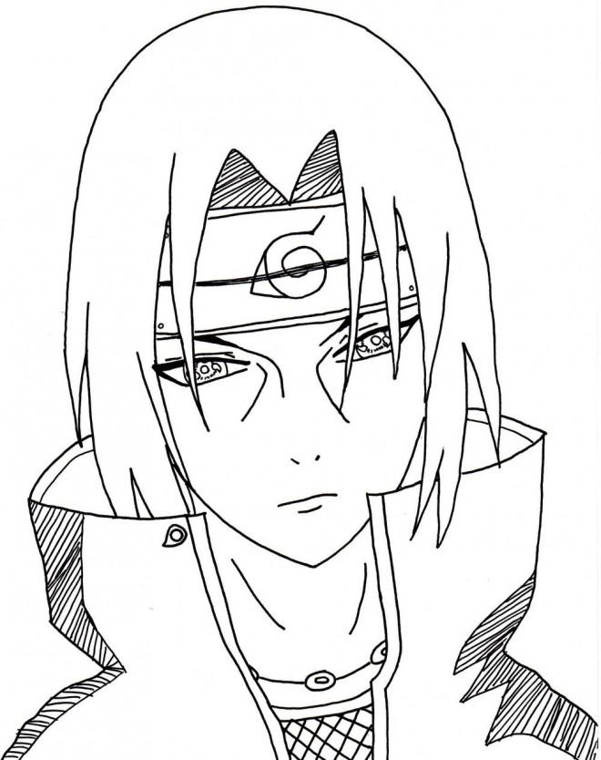 Coloriage sasuke en couleur dessin gratuit imprimer - Dessins naruto ...