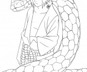 Coloriage Sasuke et le serpent