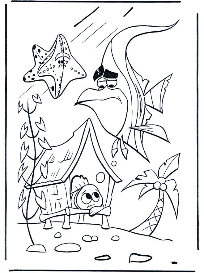 Coloriage et dessins gratuits Aquarium Nemo à imprimer