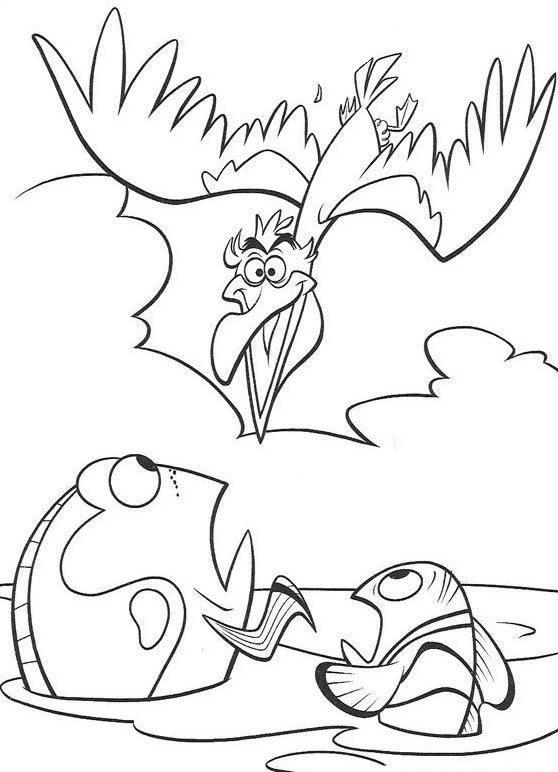 Coloriage et dessins gratuits L'Amilral, Marin et Dory à imprimer