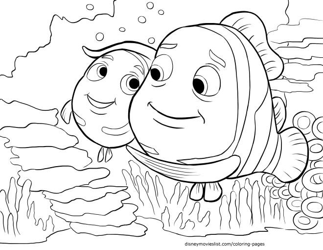 Coloriage et dessins gratuits Nemo aime son père à imprimer