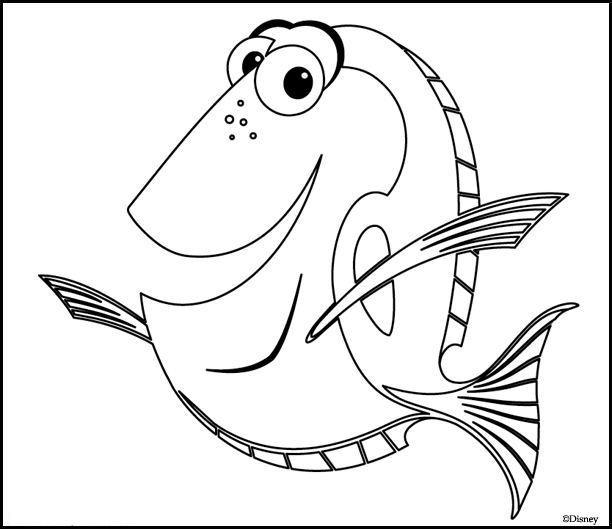 Coloriage Nemo Dory Dessin Gratuit à Imprimer