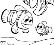 Coloriage Nemo, Dory et Marin