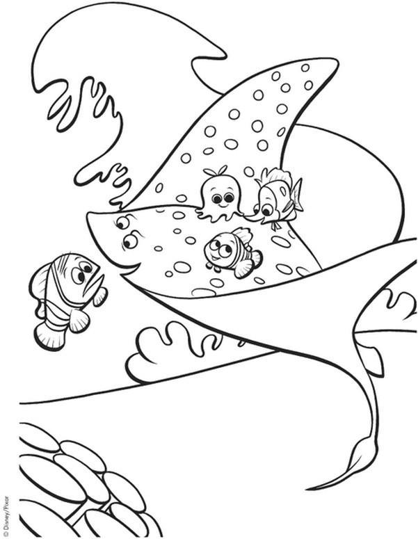 Coloriage Nemo Et Ses Amis Dessin Gratuit A Imprimer