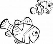 Coloriage et dessins gratuit Nemo et son père à imprimer