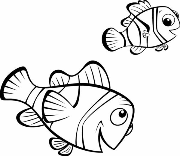 Coloriage et dessins gratuits Nemo et son père à imprimer