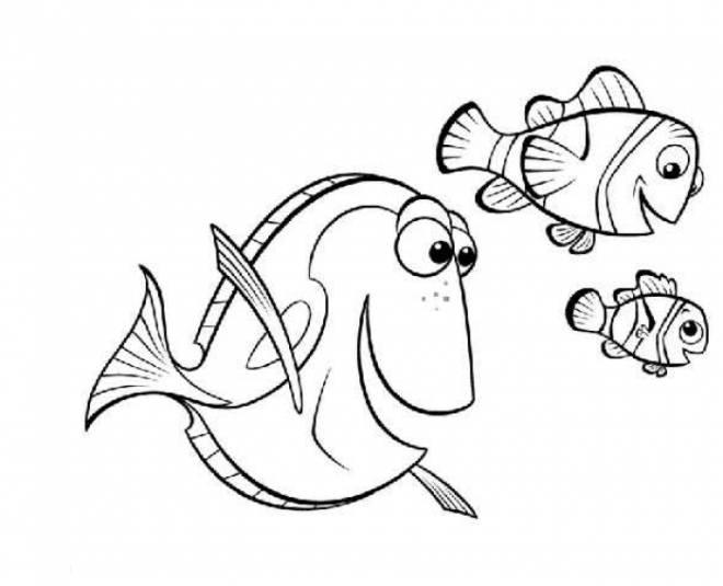 Coloriage et dessins gratuits Nemo, Marin et Dory à imprimer