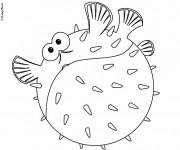 Coloriage et dessins gratuit Nemo poisson à imprimer