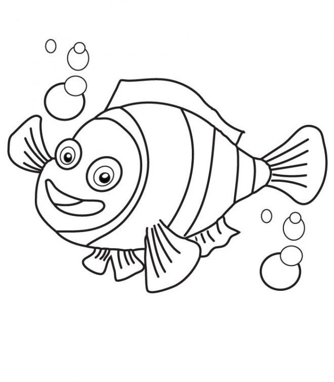Coloriage et dessins gratuits Nemo Simple à imprimer