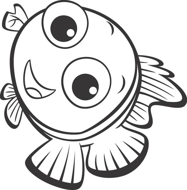 Coloriage et dessins gratuits Nemo sourit à imprimer