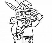 Coloriage et dessins gratuit Dessin Ninjago Kai à imprimer