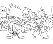 Coloriage Dessin Ninjago Les héros