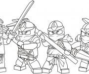 Coloriage Équipe Ninjago