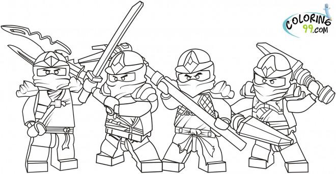 Coloriage et dessins gratuits Équipe Ninjago à imprimer