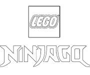 Coloriage et dessins gratuit Le logo de Ninjago à imprimer
