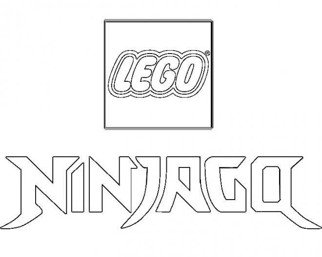 Coloriage et dessins gratuits Le logo de Ninjago à imprimer