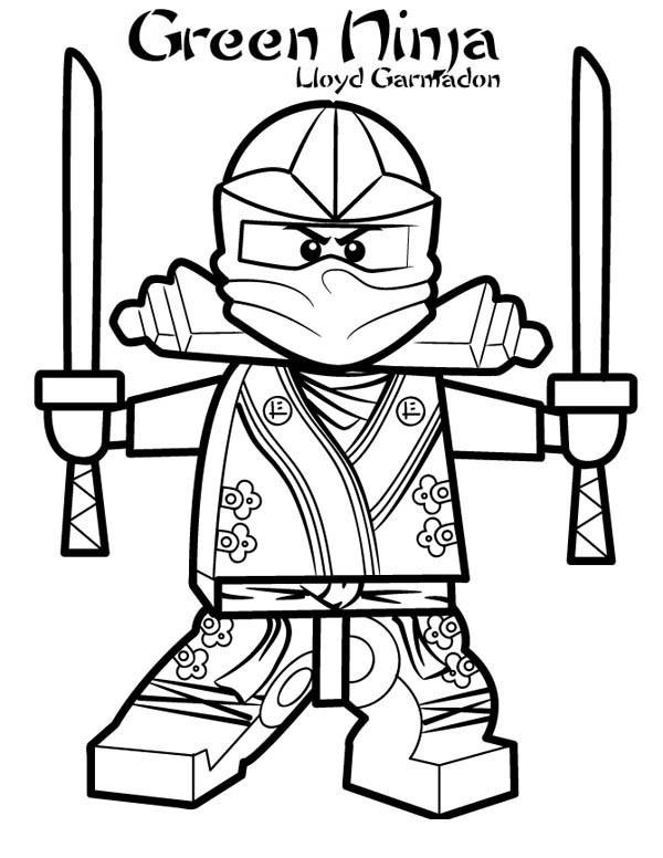 Coloriage le ninjago vert lloyd garmadon dessin gratuit - Coloriage ninjago gratuit ...
