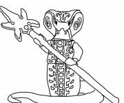 Coloriage et dessins gratuit Lego Ninjago Serpent King à imprimer