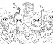 Coloriage et dessins gratuit Ninjago au combat à imprimer