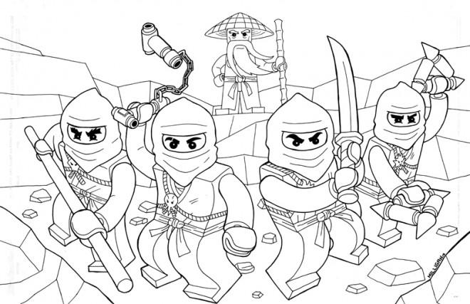 Coloriage ninjago au combat dessin gratuit imprimer - Dessin de lego ninjago ...