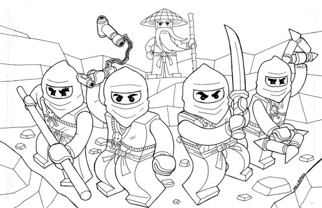Coloriage Ninjago Au Combat Dessin Gratuit A Imprimer