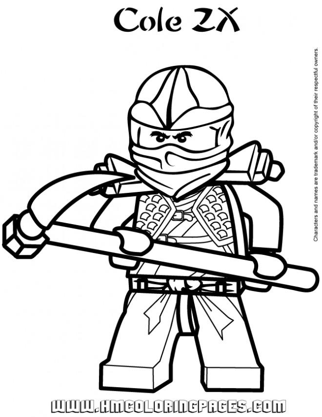 Coloriage ninjago cole zx dessin gratuit imprimer - Dessin anime ninja ...
