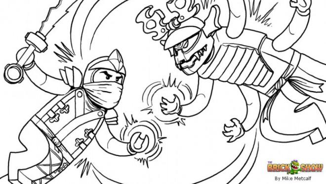 Coloriage ninjago contre attaque dessin gratuit imprimer - Dessin anime ninja ...