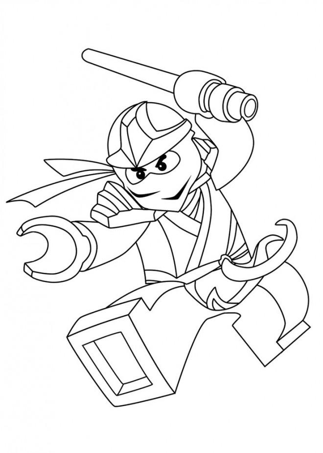 Coloriage Ninjago Kai au bat