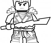Coloriage et dessins gratuit Ninjago Kai facile à imprimer