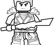 Coloriage dessin  Ninjago Kai facile