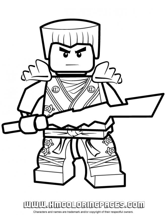Coloriage et dessins gratuits Ninjago Kai facile à imprimer