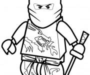 Coloriage Ninjago Kai le super ninja
