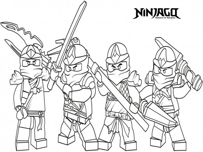 Coloriage Ninjago Le Film Dessin Gratuit A Imprimer