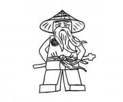 Coloriage Ninjago Maître Wu