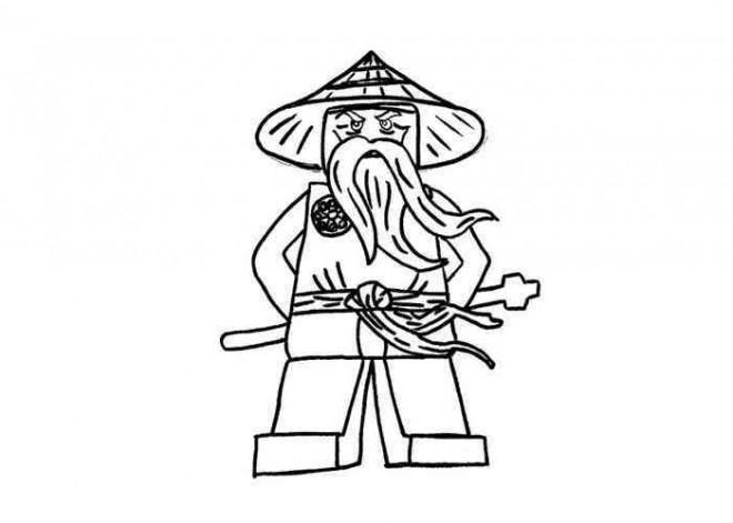 Coloriage et dessins gratuits Ninjago Maître Wu à imprimer