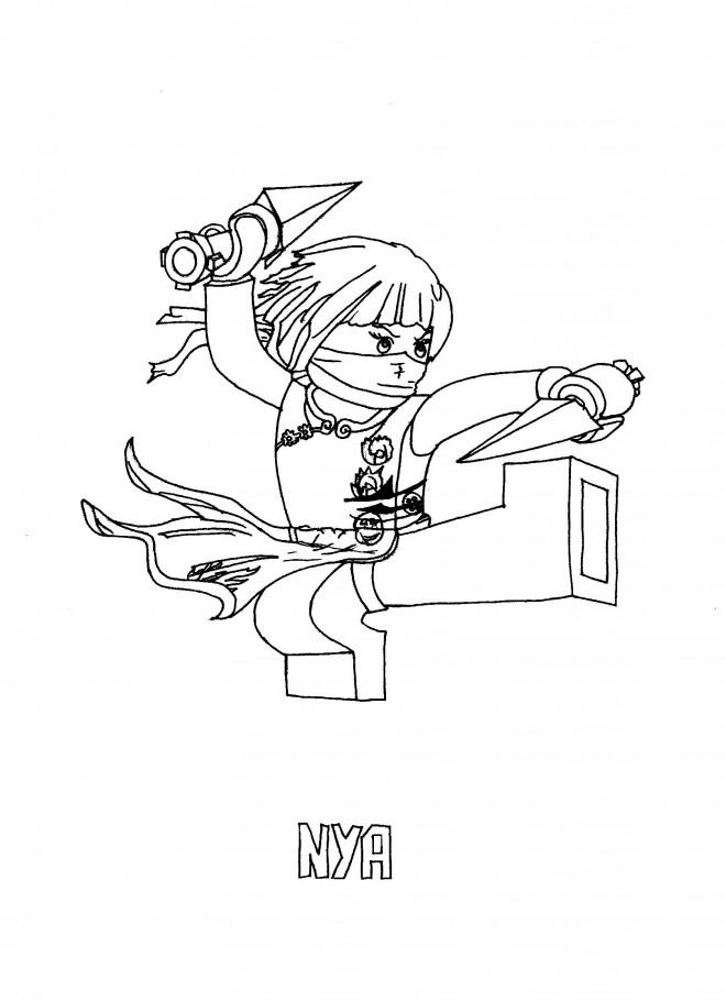 Coloriage ninjago nya dessin gratuit imprimer - Dessin de ninjago a imprimer ...