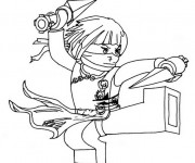 Coloriage et dessins gratuit Ninjago Nya facile à imprimer