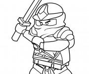 Coloriage et dessins gratuit Ninjago Rouge à imprimer