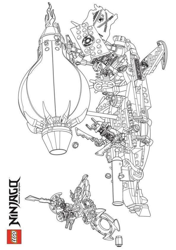 Coloriage et dessins gratuits Ninjago saison 7 à imprimer