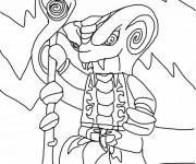 Coloriage et dessins gratuit Ninjago Serpent King à imprimer