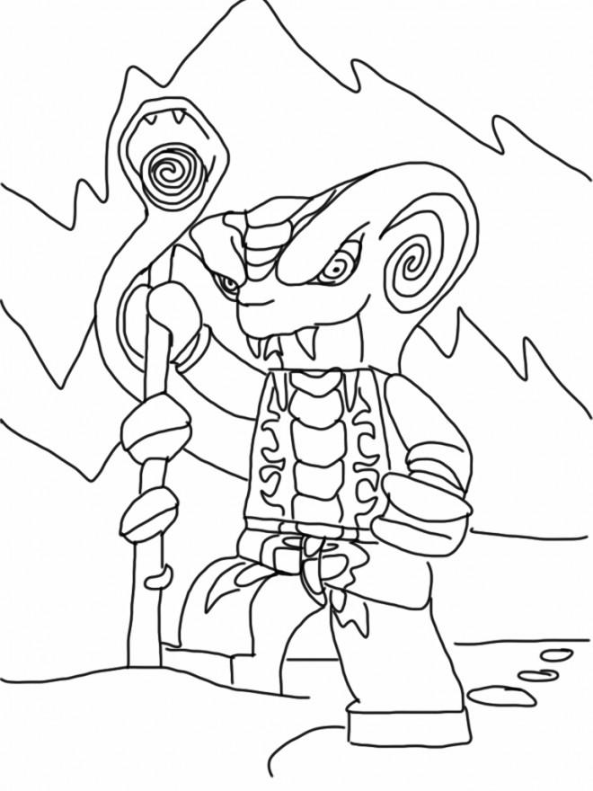 Coloriage ninjago serpent king dessin gratuit imprimer - Dessin anime ninja ...