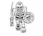 Coloriage Ninjago squelette