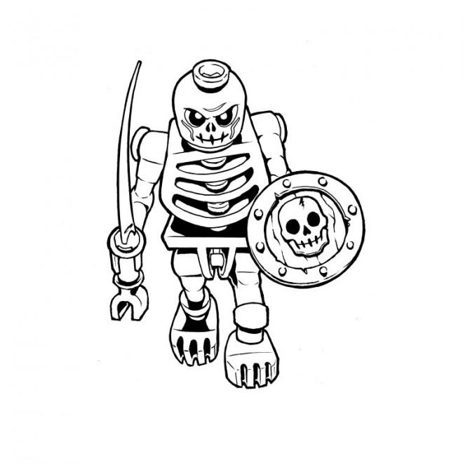 Coloriage ninjago squelette dessin gratuit imprimer - Dessin anime ninja ...