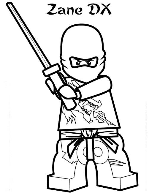 Coloriage ninjago zane et son b ton dessin gratuit imprimer - Coloriage ninjago gratuit ...