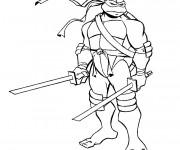 Coloriage et dessins gratuit Tortue Ninjago à imprimer