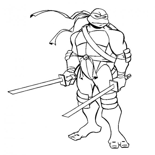 Coloriage et dessins gratuits Tortue Ninjago à imprimer
